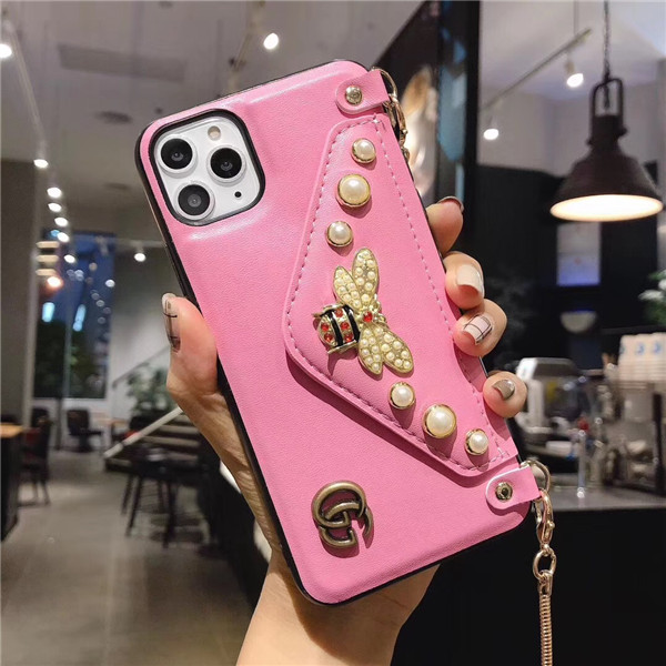 gucci iphone11/iphone11proケース ミツバチ 手帳ケース